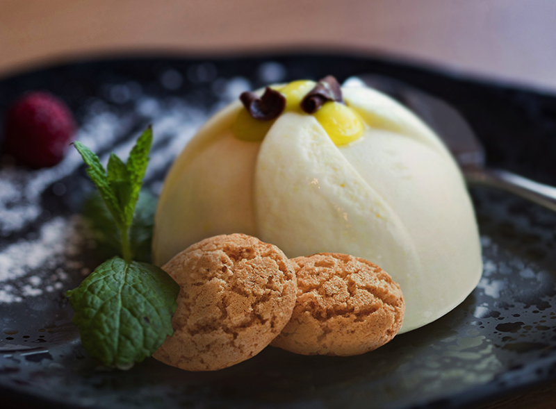 Panna cotta and Amaretti