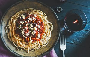 Spaghetti with Burrata and chilli pepper